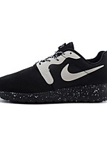 Zapatos Running Tul / Tejido Negro / Blanco Hombre