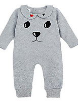 Girl's White / Gray Overall & Jumpsuit,Cartoon Cotton Winter