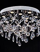 Clear Crystal Lighting Flush Mount Modern Lamp 9 Lights