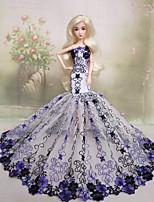 Poupée Barbie-Pourpre clair-Soirée & Cérémonie-Robes- enCuir polyuréthane