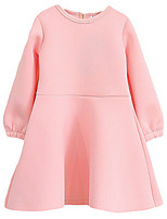 Girl's Pink / Yellow Dress,Ruffle Cotton Summer / Spring