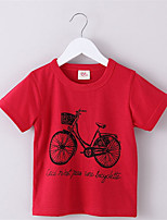 Cotton Size 90~130 Children T-Shirts For Kids Tops Tees Child Clothing Boys Short Sleeve Summer T Shirts Bicycle