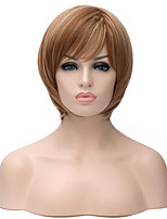 Hot Sale New Golden Blonde Color Short Straight Hair Synthetic Wigs