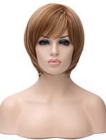 venta caliente pelucas sintéticas nuevo pelo recto de color rubio dorado corto