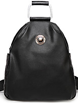 Women PU Bucket Backpack-Black