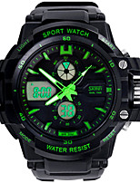 Outdoor Sports Mountaineering Dual Display Multifunction Electronic Watch Waterproof Casual Watches (Queen)