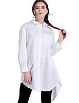 Haoduoyi Women's Stand Long Sleeve Shirt & Blouse White-15151A437