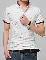 The new summer men's short sleeved T-shirt Cotton Mens Shirt Collar small half sleeve polo shirt s casual tide