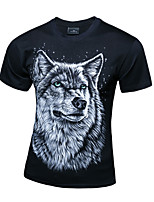 Men's Short Sleeve T-Shirt,Cotton Casual / Plus Sizes Print