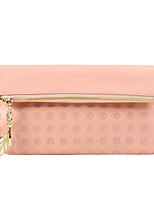 Women Cowhide Bi-fold Clutch / Wallet-Pink