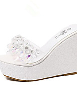 Women's Shoes Leatherette Wedge Heel Comfort Sandals Outdoor Pink / White / Silver / Gold