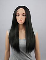 perruques mode perruques synthétiques dentelle devant 28inch droite chaleur noir cheveux résistants perruques wome