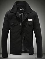 Men's Long Sleeve Jacket,Cotton Casual Letter