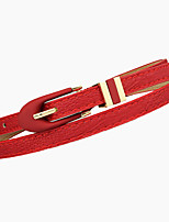 Women Leather Simple Skinny Belt,Vintage / Cute / Party / Casual Alloy