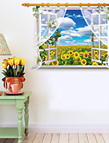3D Wall Stickers Wall Decals Style Sun Flower PVC Wall Stickers