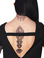 Lace Water Transfer Stickers Temporary PVC Henna Tattoo Sticker Printing Airbrush Tattoo Stencils