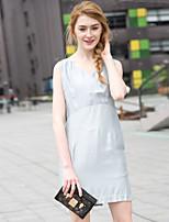 Zishangbaili® Women's V Neck Sleeveless Knee-length Dress-XZ52095