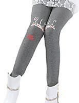Girl's Black / Pink / Gray Leggings Cotton Winter