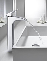 PHASAT® Bathroom Sink Faucet Contemporary Design Waterfall (Chrome Finish)