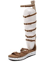 Women's Shoes Suede Platform Gladiator Sandals Dress / Casual Black / Brown
