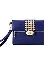 Women PU Baguette Shoulder Bag / Satchel-White / Blue / Red / Black
