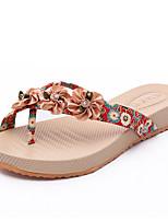 Zapatos de mujer-Tacón Plano-Zapatillas-Sandalias / Pantuflas-Exterior / Vestido / Casual-PU-Azul / Rojo
