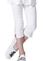 Girl's White Pants Cotton Summer