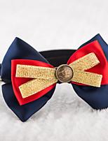 Gatos / Perros Collar Ajustable/Retractable / Lindo y mimoso / Lazo Rojo / Azul / Amarillo Textil