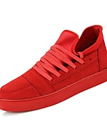 Men's Shoes Outdoor / Office & Career / Athletic / Dress / Casual Synthetic Fashion Sneakers Black / Red