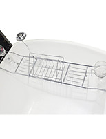 Metal Adjustable Bathtub Shelf  for Placing Books Wine Rack Storage
