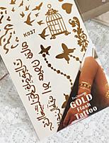 Metal Stick Back PVC Bronzing Tattoo Airbrush Tattoo Stencils