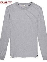 Trenduality® Men's Round Neck Long Sleeve T Shirt Gray-63012