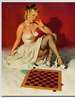 VISUAL STAR®Famous Pin up Girl Pop Art Print on Canvas Ready to Hang