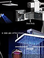 LED Shower Faucet / Rainfall Shower / LED Handshower Included-Brass(Chrome)