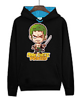 Inspired by One Piece Monkey D. Luffy Anime Cosplay Costumes Cosplay Hoodies Print Black Long Sleeve Top
