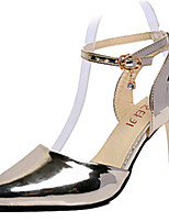 Women's Shoes PU Stiletto Heels Sandals / Heels Wedding / Party & Evening/ Casual Red / Silver / Gold / Champagne