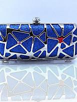Minaudière-Bleu / Rouge-Baguette-Autre Type de Cuir-Femme