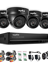 SANNCE® 960H 8CH CCTV System Waterproof Video Recorder 800TVL Dome Home Security Camera Surveillance Kits System