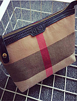 Women Canvas Casual Cosmetic Bag-Brown 21cm*13cm