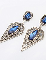 Fashion Style Charming Square and Triangle Drop Long Earrings For Women Nightclub Dress