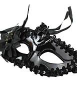 Maskerade-Partei-Spitze Kunststoff Prinzessin Gesichtsmaske schwarz