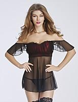 Vêtement de nuit Femme Nuisette & Culottes / Ultra Sexy / Body / Uniformes & Tenues Chinoises / CostumesFil Guipé / Dentelle / Nylon /