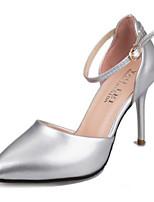 Calçados Femininos-Saltos-Saltos-Salto Agulha-Rosa / Branco / Prateado / Dourado-Courino-Social / Festas & Noite
