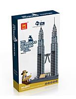 des milliers de jouets éducatifs de retenue pour enfants assemblés 8011 célèbre la construction des tours Petronas à Kuala Lumpur
