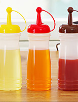 220ml Plastic Small Kitchen Salad Flavored Bottle Squeeze Bottle(Random Color)