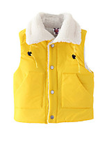 Girl's Yellow Down & Cotton Padded,Dresswear Cotton Winter