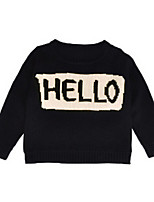 Girl's Hoodie & Sweatshirt,Cotton Winter / Fall Black