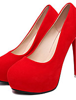 Women's Shoes Fleece Stiletto Heel Heels Heels Wedding / Party & Evening Black / Pink / Red