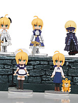 Fate/stay night PVC One Size Anime Action Figures Model Toys Doll Toy 1 set 5.5cm