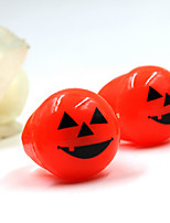 1Pcs Halloween Soft Toys Ring Eyes and Pumpkin Lights Ring Luminous Finger Ring(Random Color)